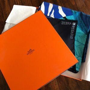 Hermès Pegasus Zebra scarf. Comes with box .